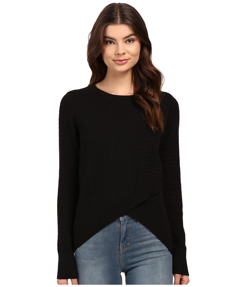 Brigitte Bailey - Crossover Sweater (Black) Women's Sweater