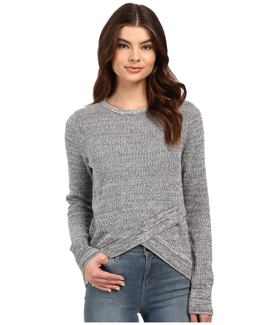 Brigitte Bailey - Crossover Sweater (Heather Grey) Women's Sweater