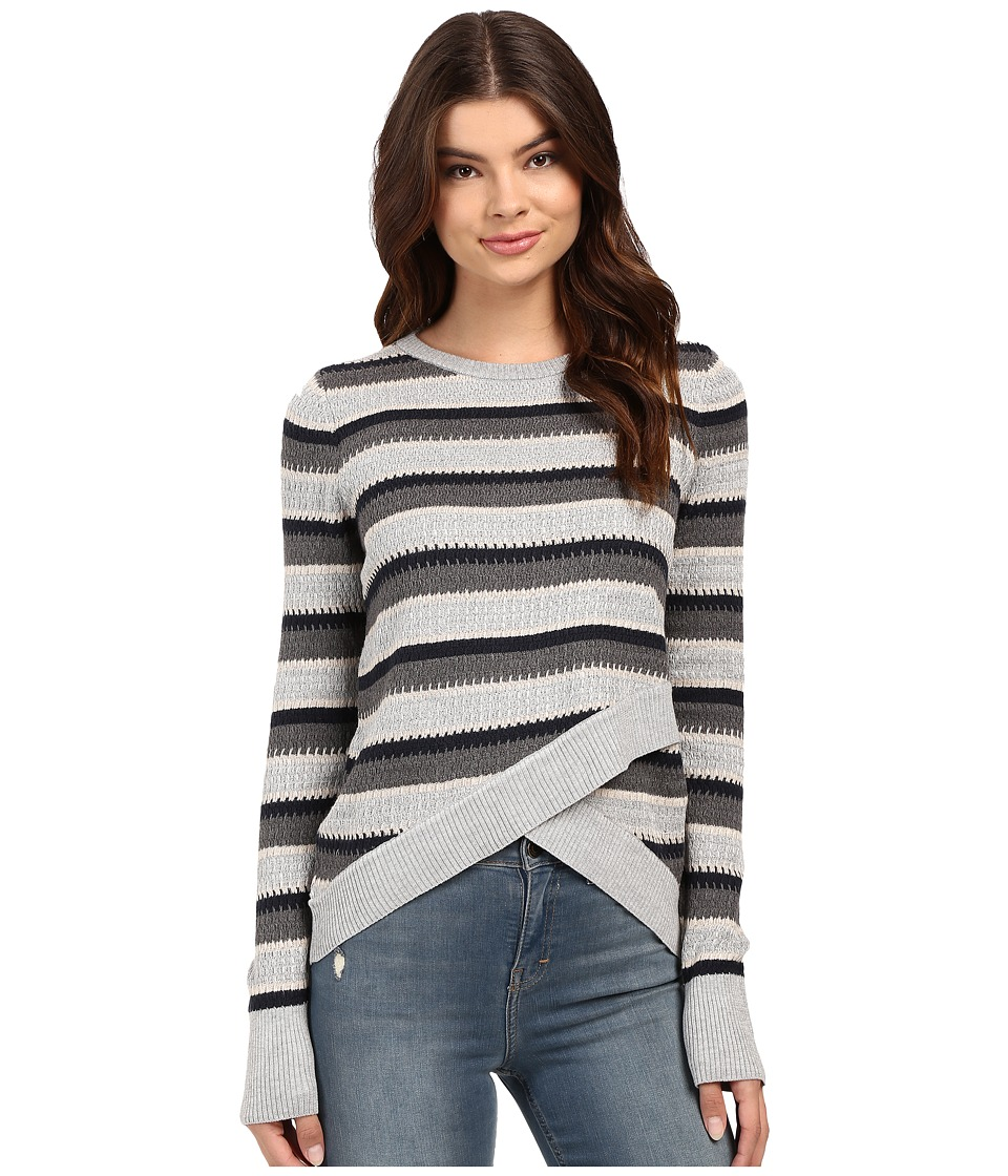 Brigitte Bailey - Crossover Sweater (Soot Combo) Women's Sweater