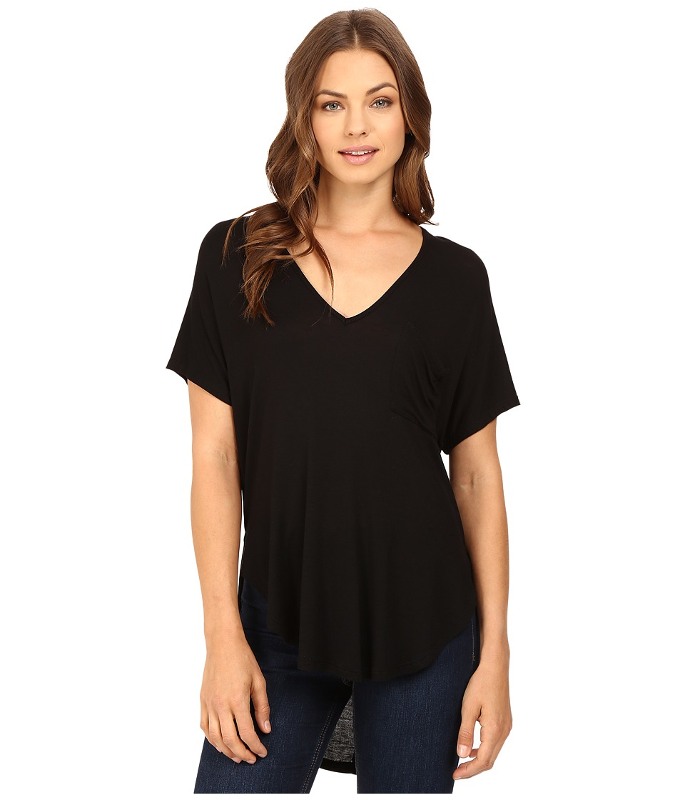 Brigitte Bailey - Isis V-Neck Kimono Knit Top (Black) Women's Clothing