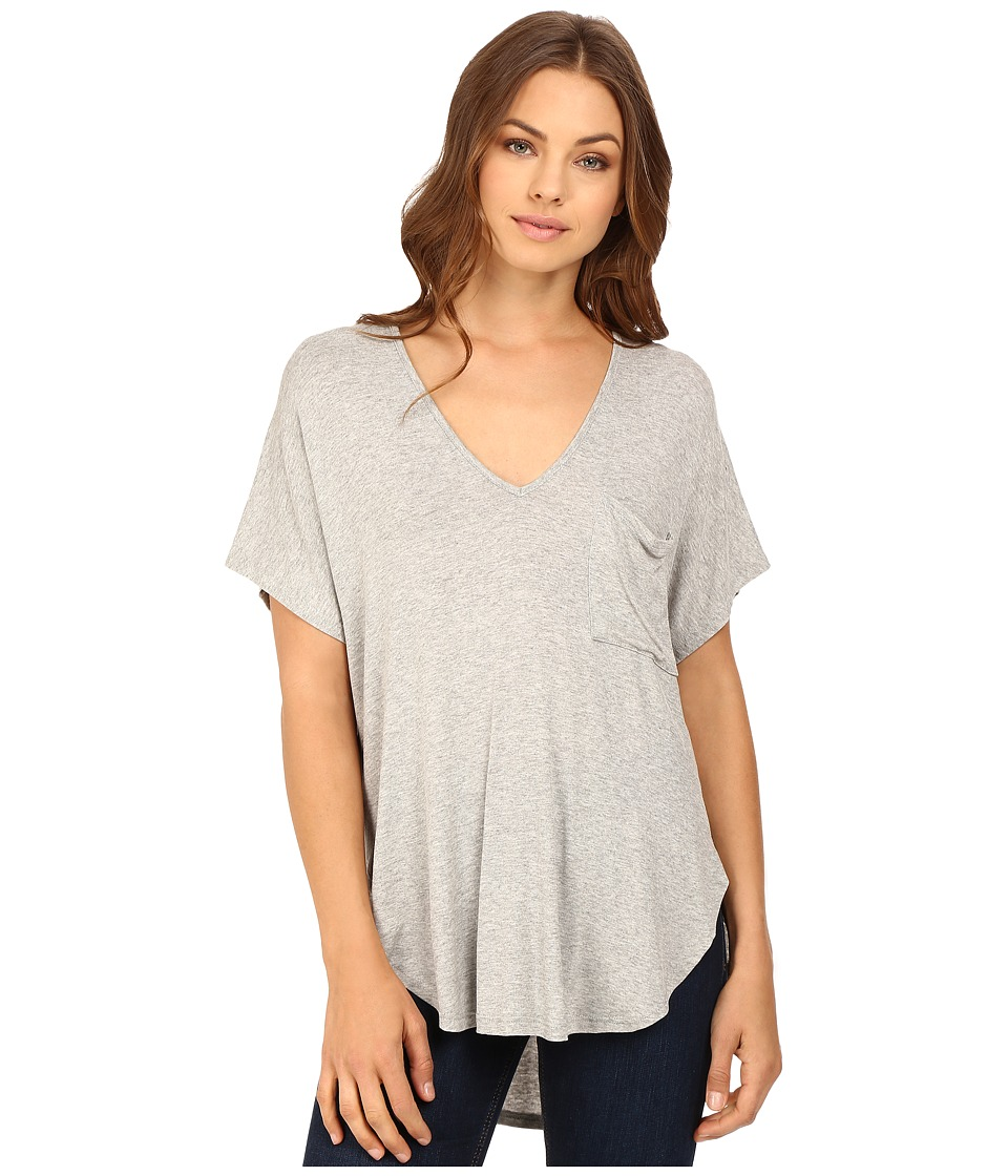 Brigitte Bailey - Isis V-Neck Kimono Knit Top (Heather Grey) Women's Clothing