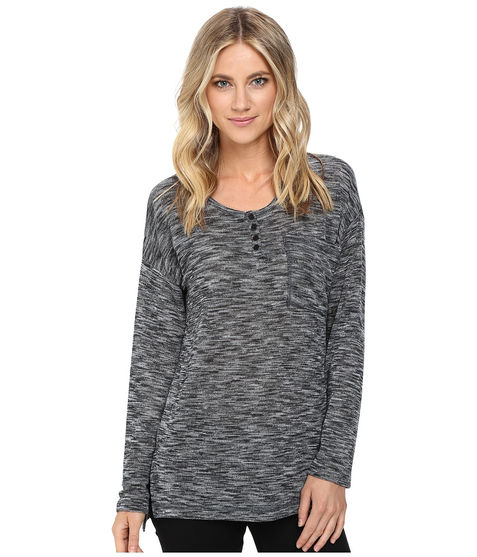 Brigitte Bailey - Heathered Long Sleeve Top (Heather Grey) Women's Clothing