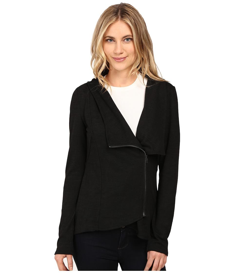 Brigitte Bailey - Hacci Asymmetrical Jacket (Black) Women's Coat