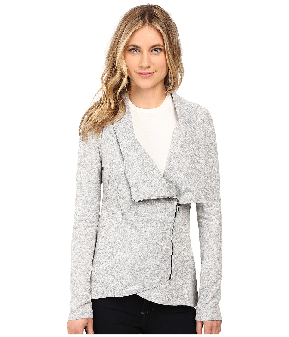 Brigitte Bailey - Hacci Asymmetrical Jacket (Heather Grey) Women's Coat
