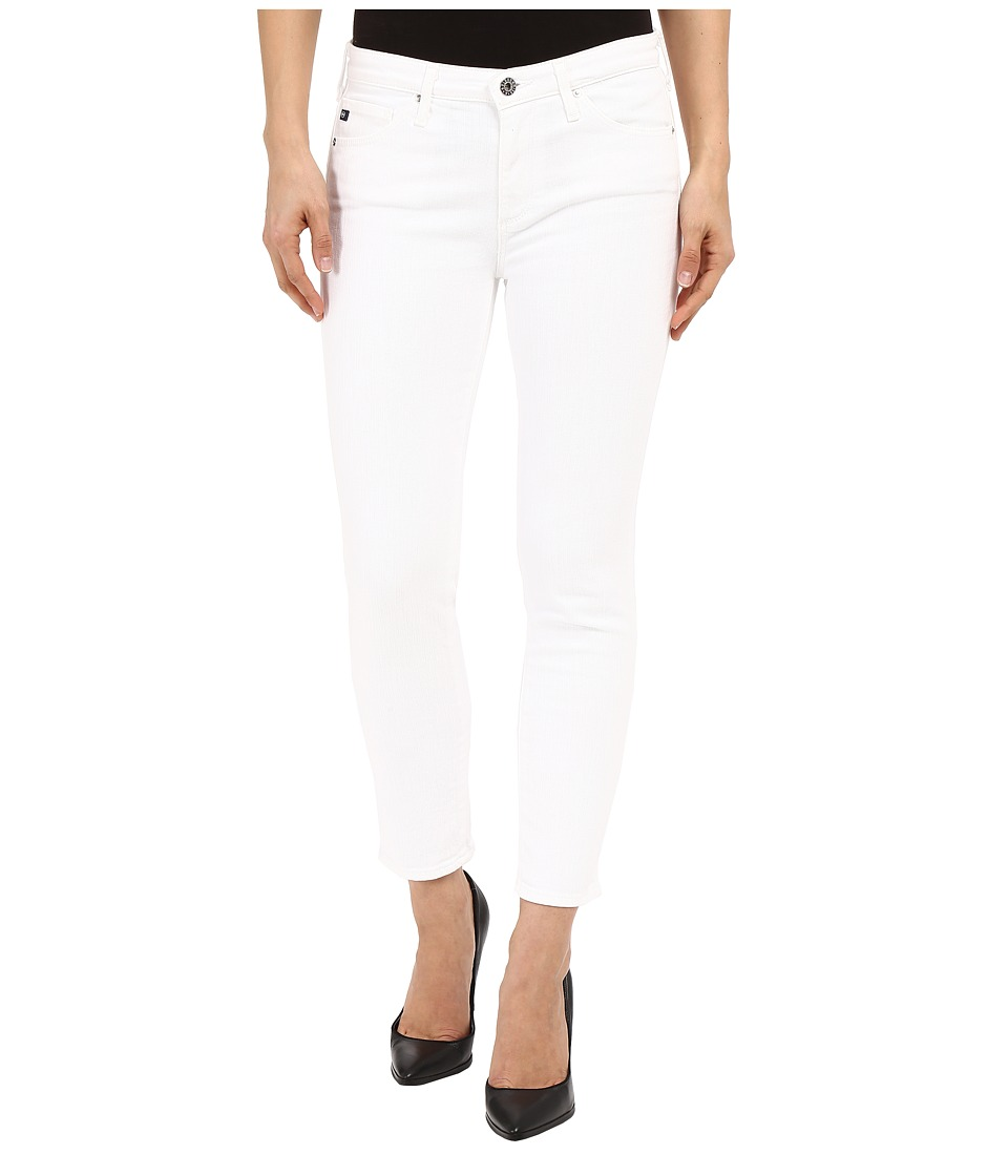 AG Adriano Goldschmied - The Prima Crop in White (White) Women's Jeans