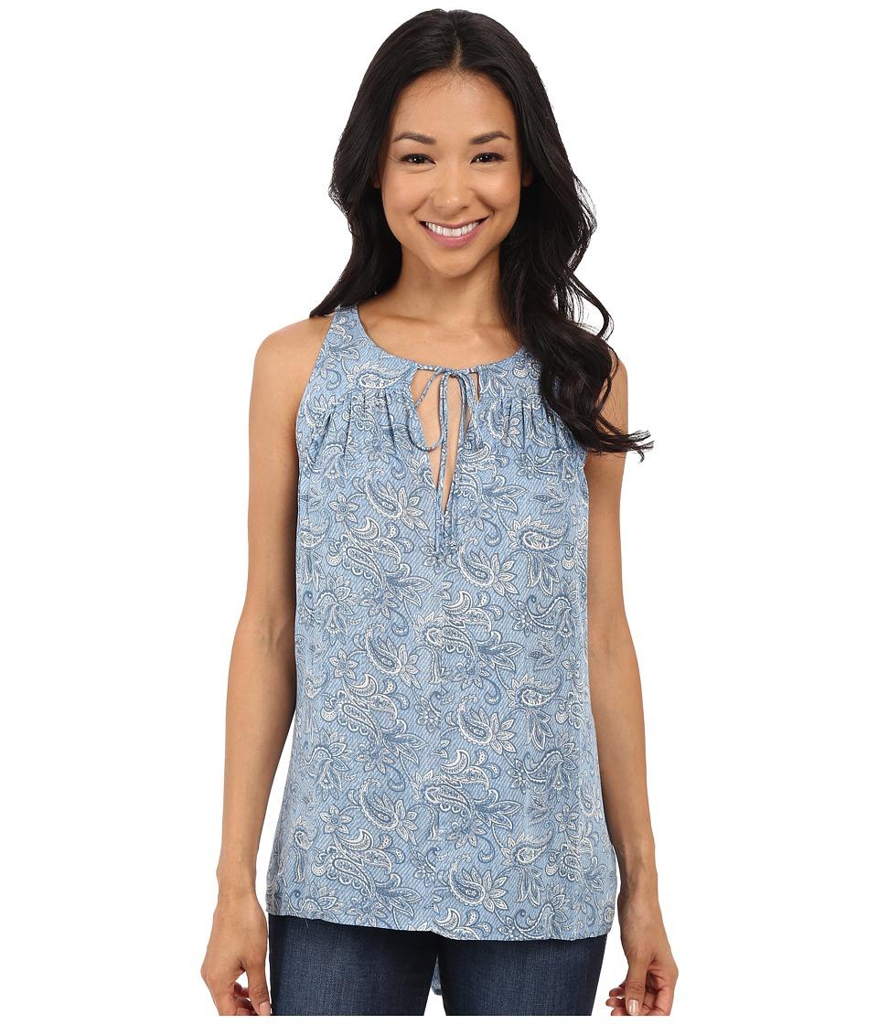 Brigitte Bailey - Kita Sleeveless Print Tank Top (Blue Floral) Women's Sleeveless
