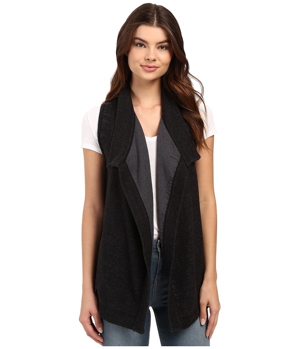 Brigitte Bailey - Marled Drape Cardi (Black) Women's Sweater