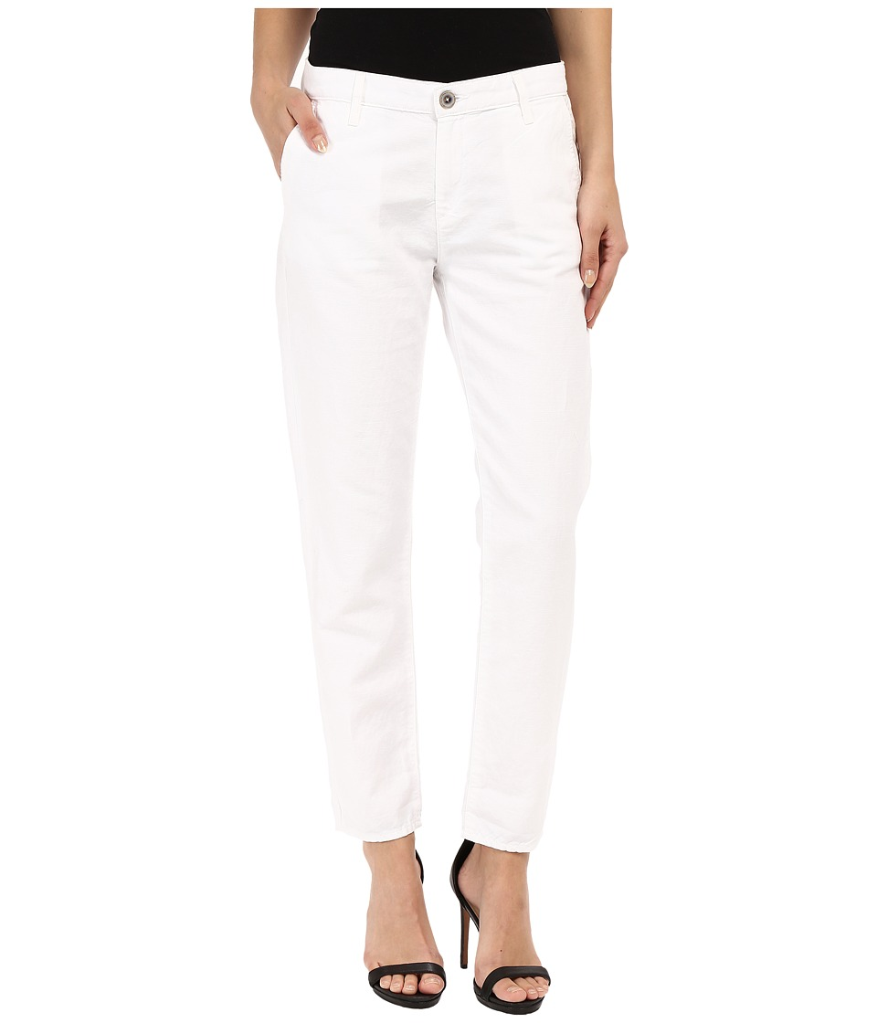 AG Adriano Goldschmied - The Tristan Trousers in White (White) Women's Casual Pants
