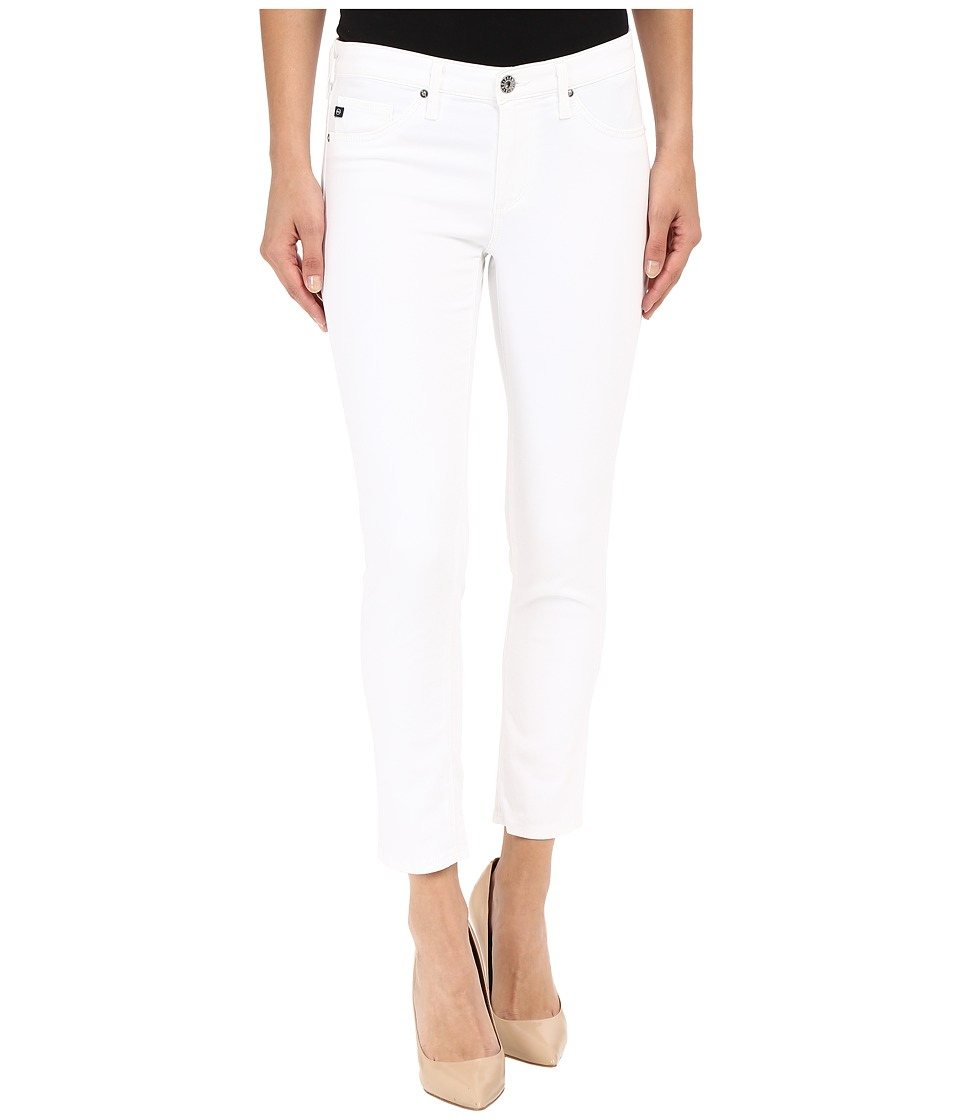 AG Adriano Goldschmied - The Stilt Crop in White (White) Women's Casual Pants