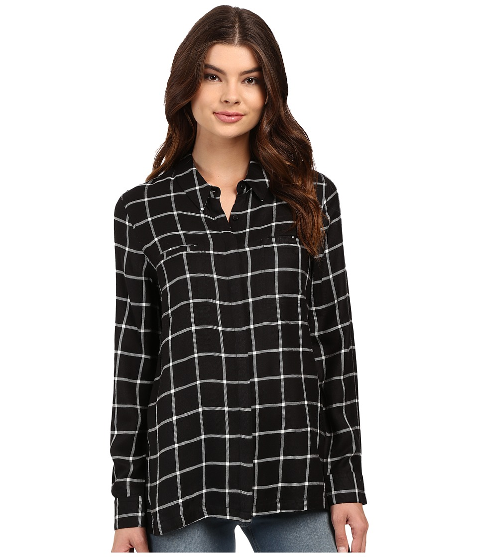 Brigitte Bailey - Window Button Down (Black Combo) Women's Clothing