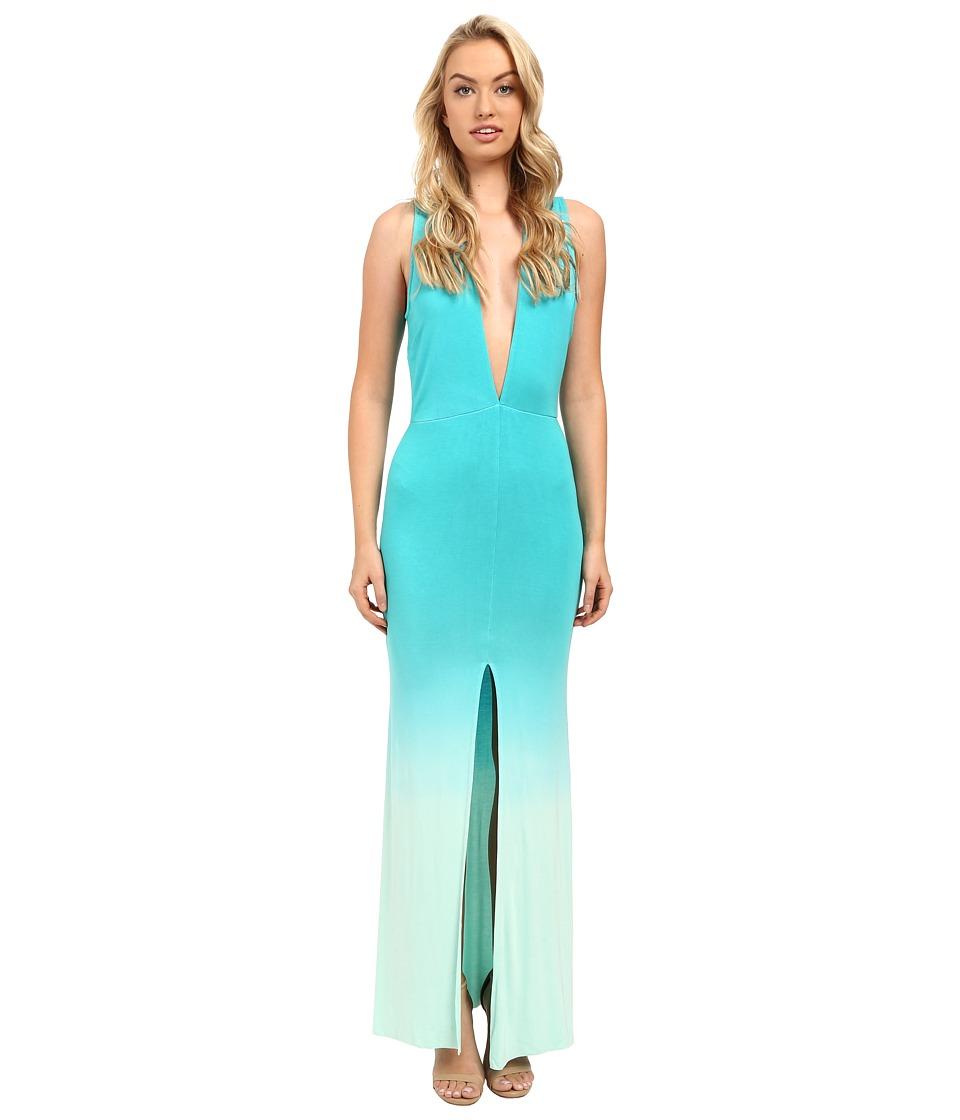 Young Fabulous & Broke - Vanessa Maxi (Turquoise Ombre) Women's Dress