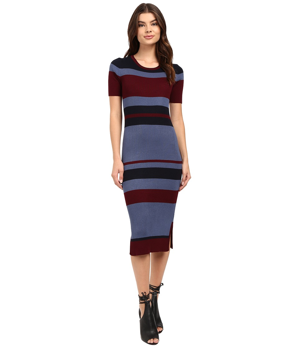 Brigitte Bailey - Rib Column Dress (Dried Rose Combo) Women's Dress