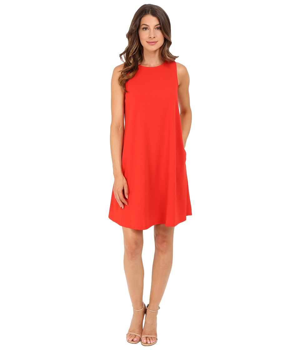 Christin Michaels - Sunrise Trapeze Dress (Coral) Women's Dress