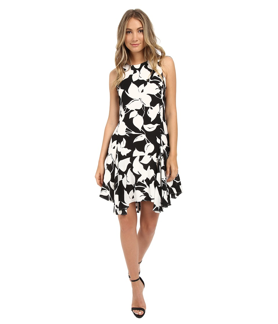 Christin Michaels Isere Georgette Dress (Black/White) Women