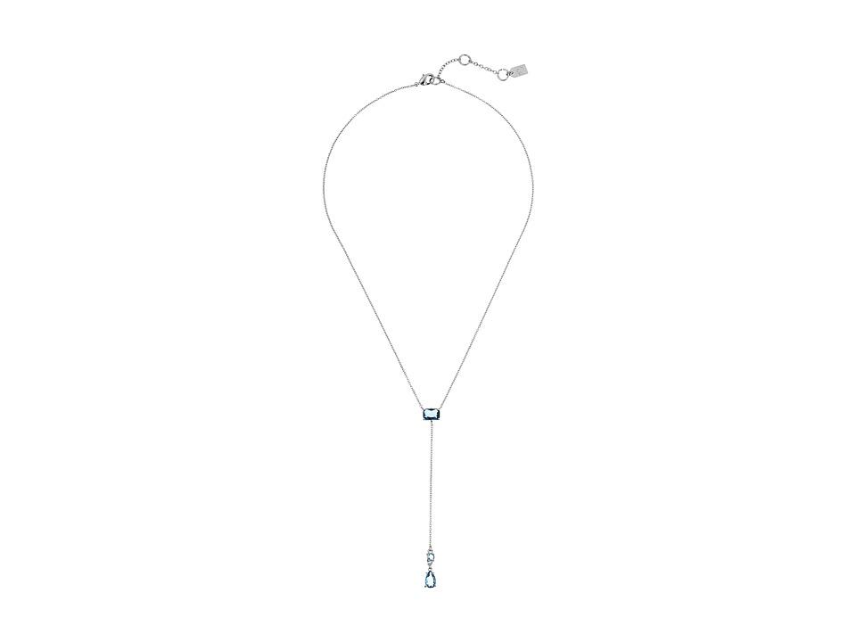 LAUREN Ralph Lauren - Mad About Hue 20 Faceted Stone Y Necklace (Blue/Silver) Necklace