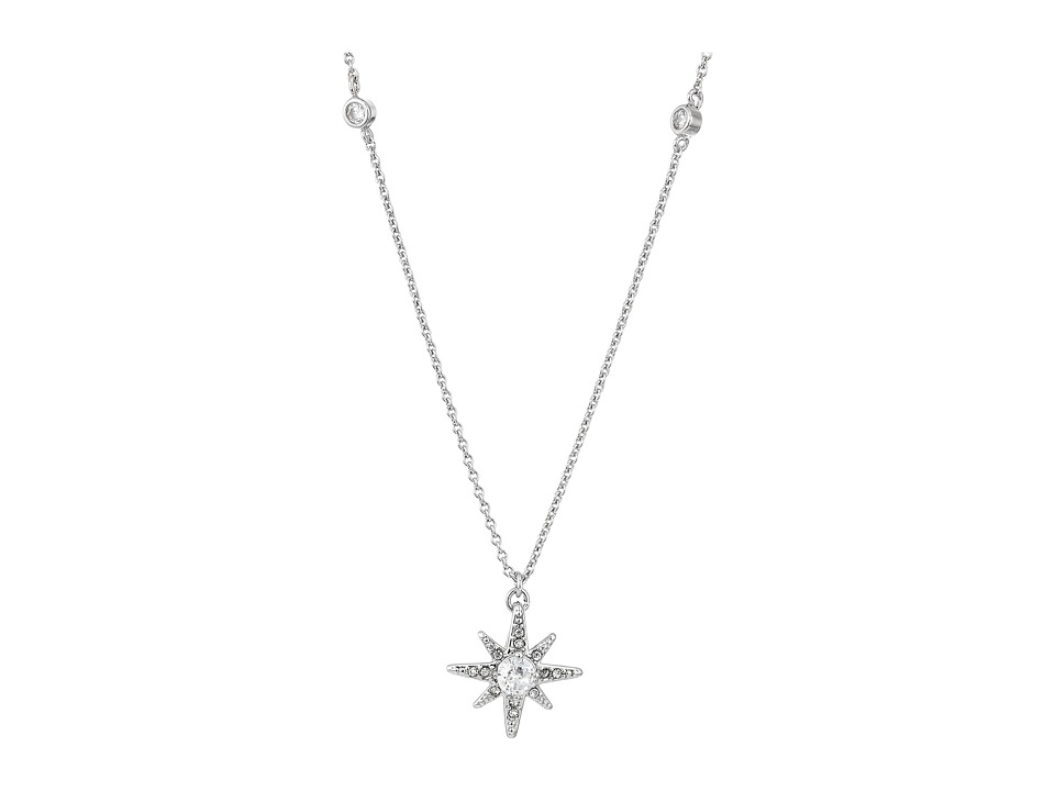 LAUREN Ralph Lauren - Estate 16 Pave Star Pendant Necklace (Crystal/Silver) Necklace