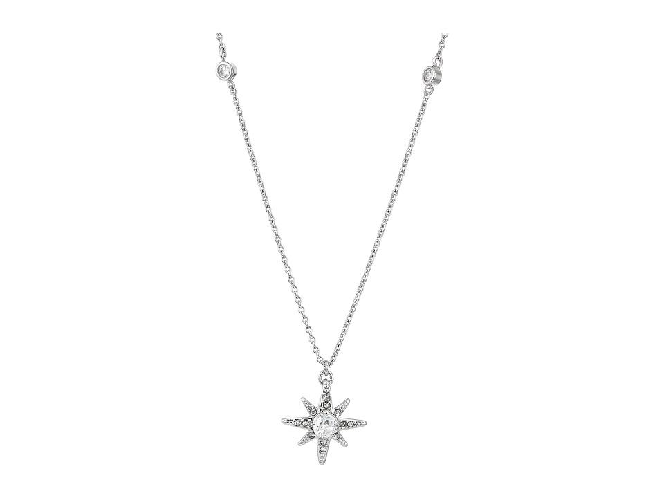 LAUREN Ralph Lauren - Estate 16 Pave Star Pendant Necklace (Crystal/Silver) Necklace