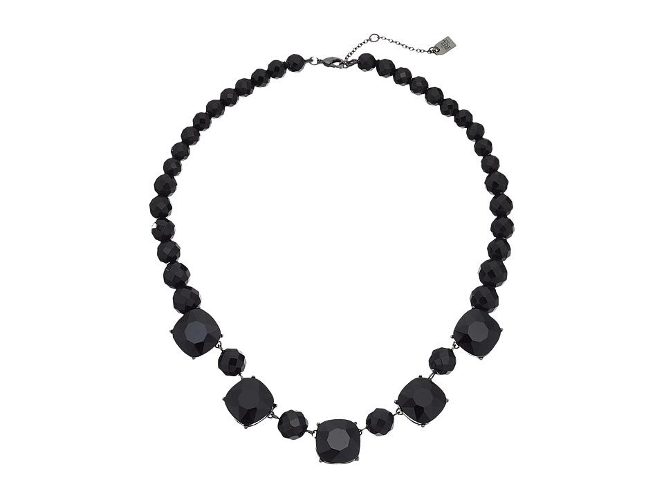 LAUREN Ralph Lauren - Hide and Chic 18 Bead and Stone Necklace (Jet/Hematite) Necklace