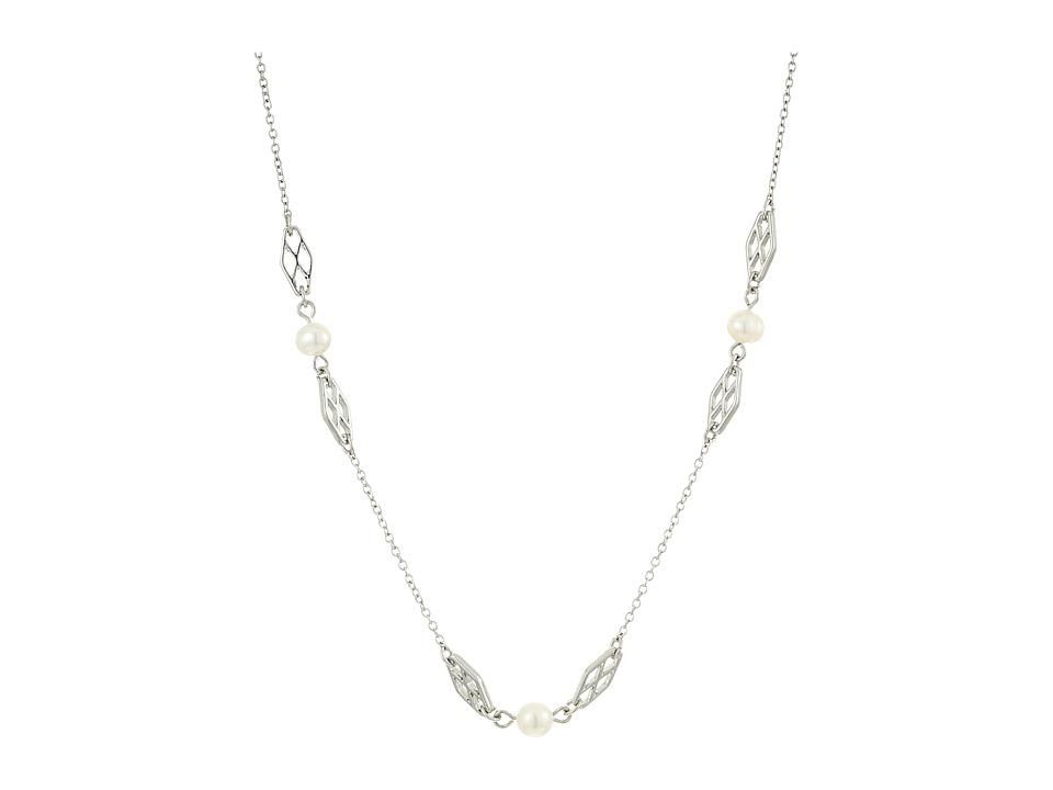 LAUREN Ralph Lauren - Social Set 16 Pearl Illusion Necklace (White Pearl/Silver) Necklace