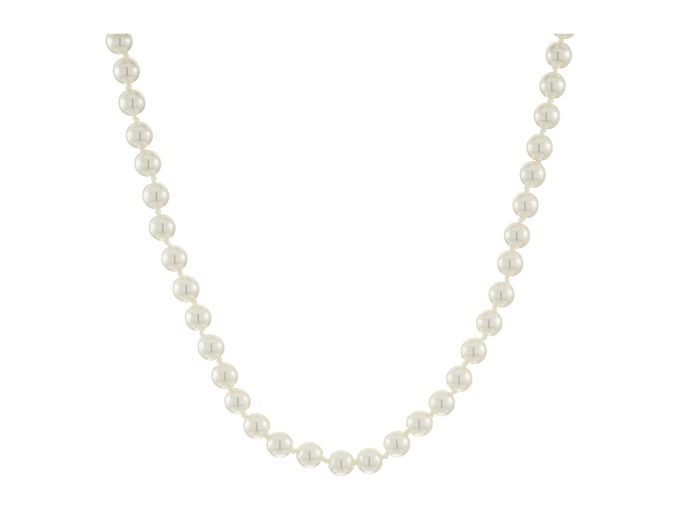 LAUREN Ralph Lauren - Social Set 16 6mm Pearl Necklace (White Pearl/Silver) Necklace