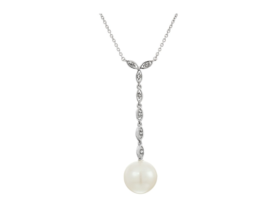 LAUREN Ralph Lauren - Social Set 16 Crystal Pearl Pendant Necklace (White Pearl/Crystal/Silver) Necklace