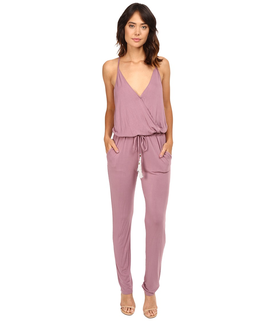 Young Fabulous & Broke - Chrissy Jumpsuit (Raisin) Women's Jumpsuit & Rompers One Piece