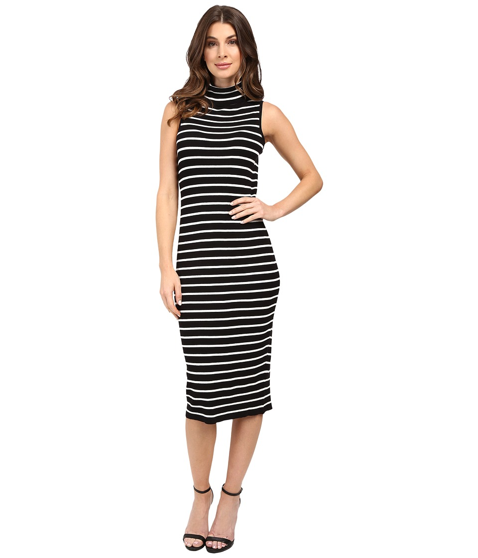 Christin Michaels - La Cruz Dress (Black/Cream) Women's Dress