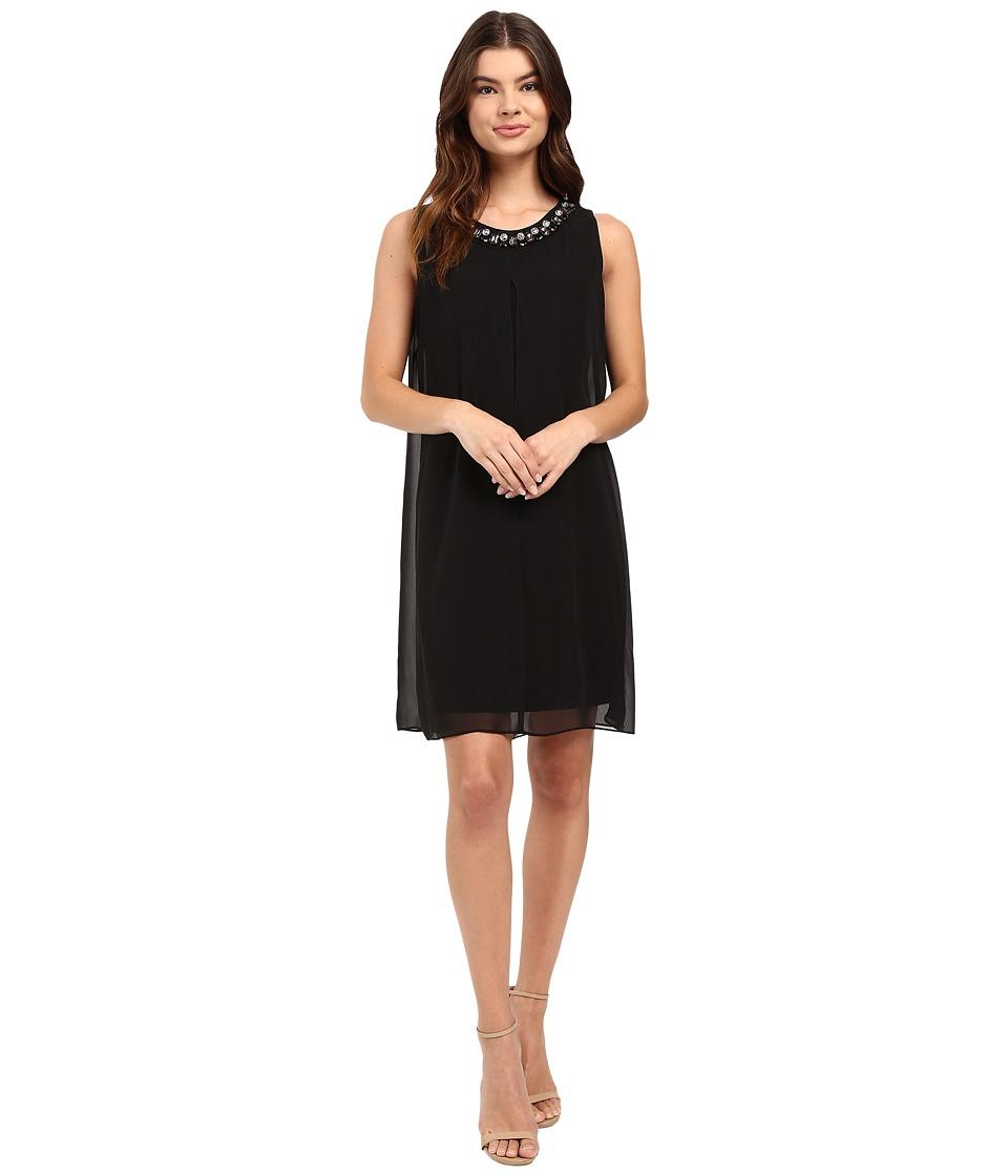Christin Michaels Giana Sheath Dress (Black) Women