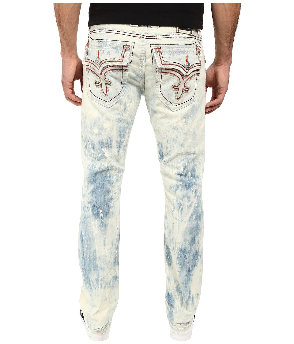 Rock Revival - Teo A216 (Tie-Dye Light Blue) Men's Jeans