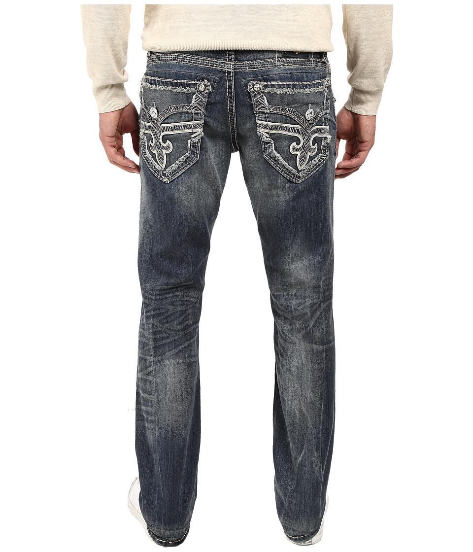 Rock Revival - Dano J401 (Dark Blue) Men's Jeans