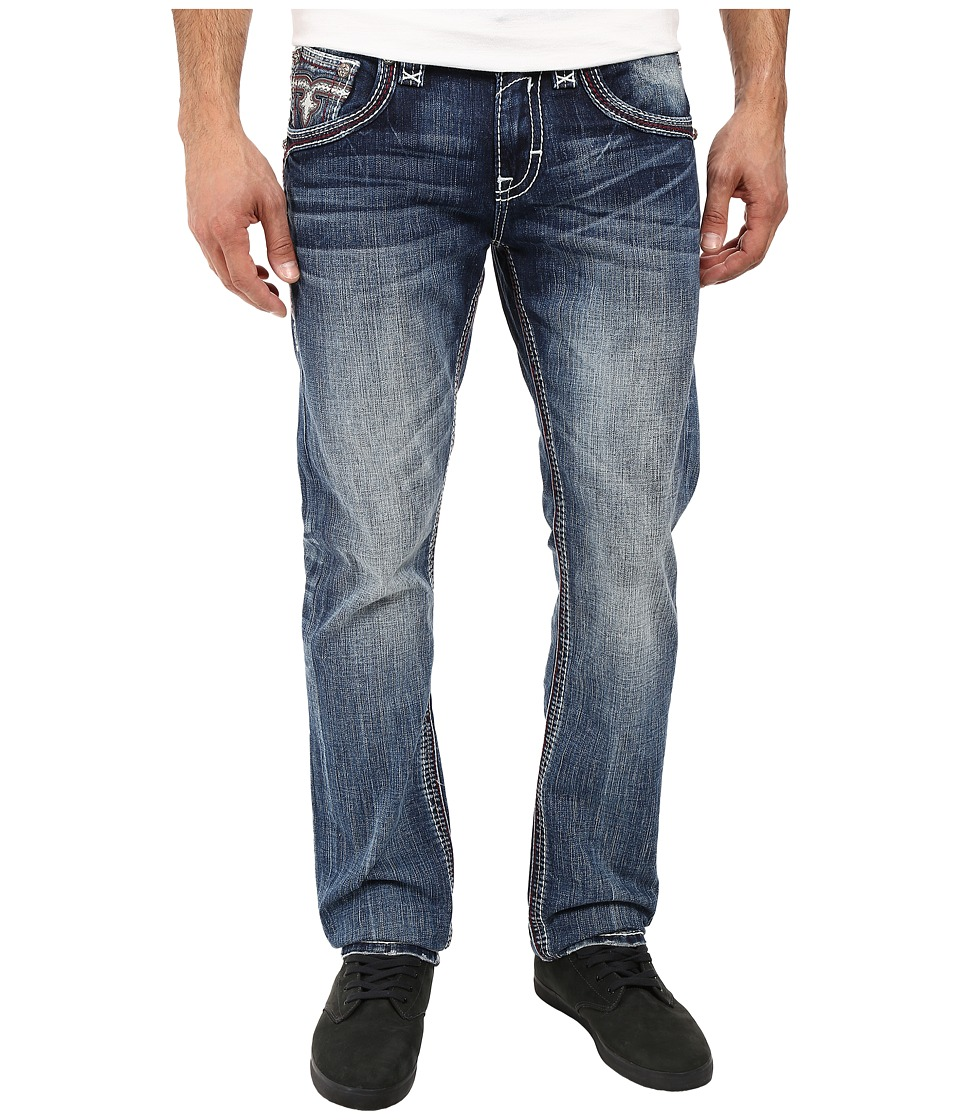 Rock Revival - Cyrek J200 (Dark Blue) Men's Jeans