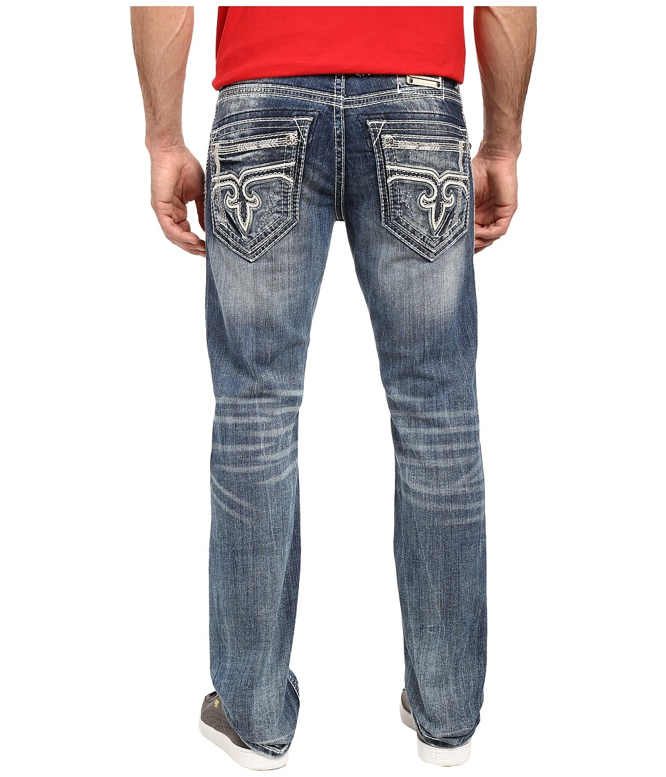 Rock Revival - Cyrek J201 (Medium Blue) Men's Jeans