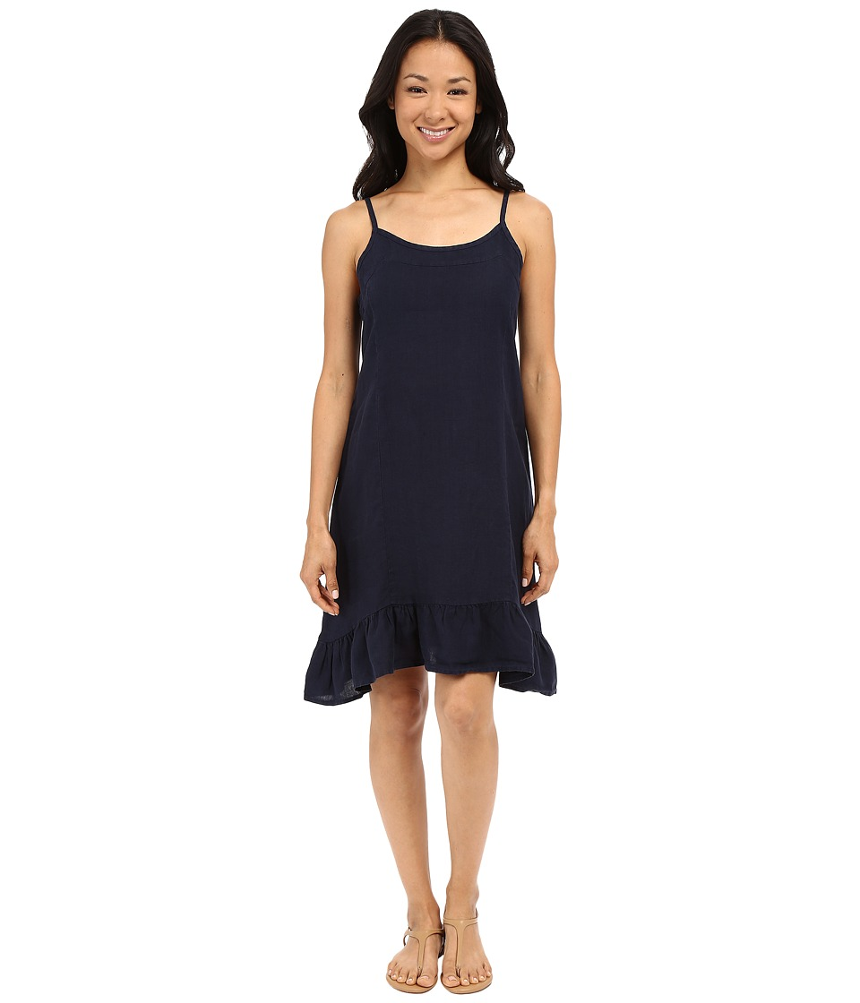 Allen Allen Linen Tank Dress (Lapis) Women