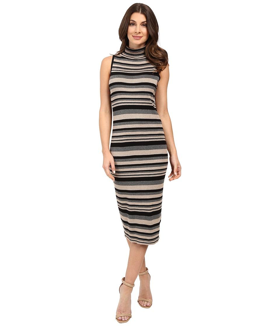 Christin Michaels - Neema Dress (Black/Taupe/Grey) Women's Dress