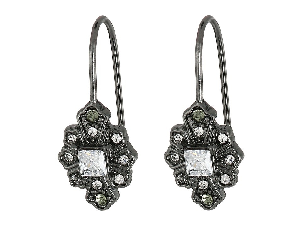 LAUREN Ralph Lauren - Estate Small Stone Drop Earrings (Crystal/Hematitie) Earring