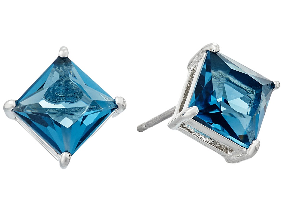 LAUREN Ralph Lauren - Estate Faceted Stone Stud Earrings (Blue/Silver) Earring