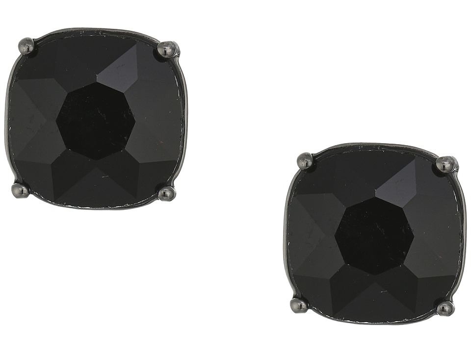 LAUREN Ralph Lauren - Hide and Chic Faceted Stone Clip Earrings (Jet/Hematite) Earring