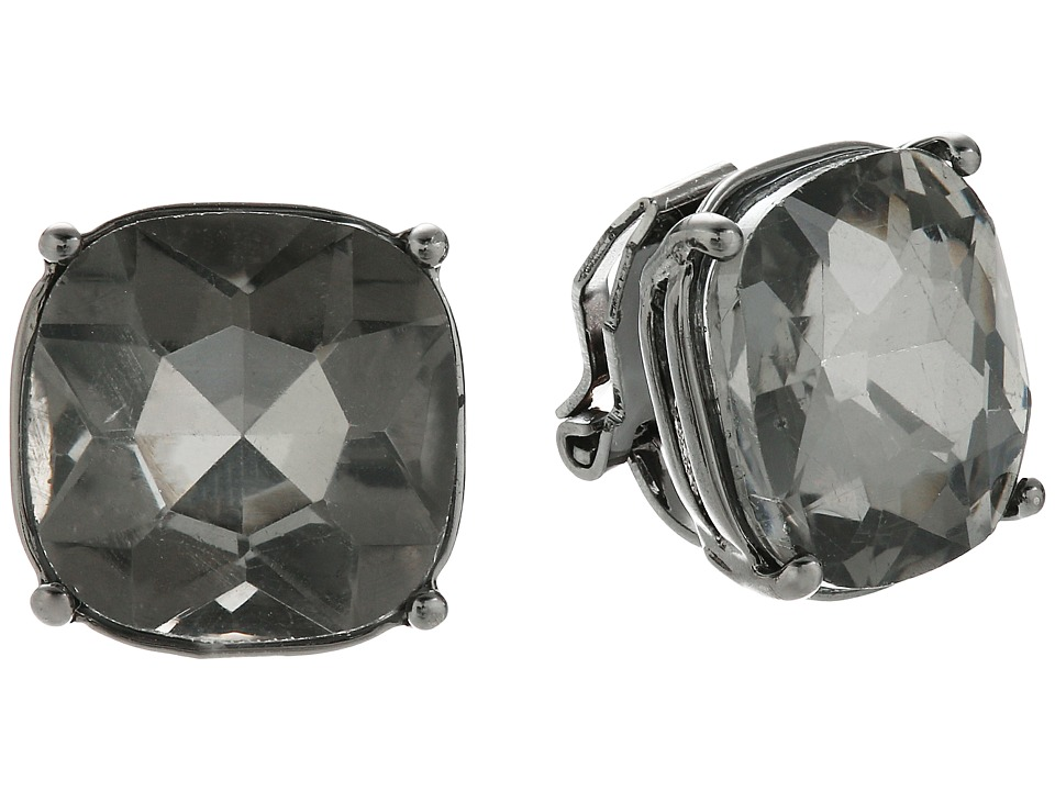 LAUREN Ralph Lauren - Hide and Chic Faceted Stone Clip Earrings (Black Diamond/Hematite) Earring