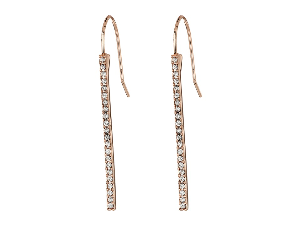 LAUREN Ralph Lauren - Rose Gold Social Pave Stick Earrings (Crystal/Rose Gold) Earring