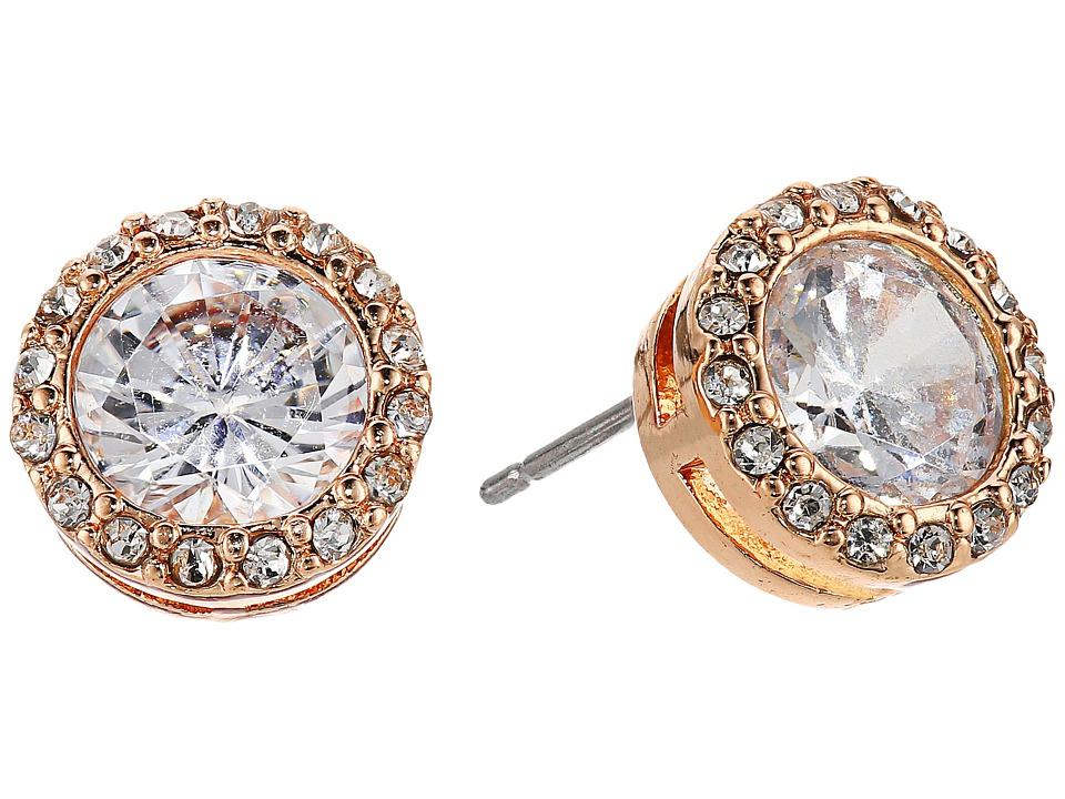 LAUREN Ralph Lauren - Halo Crystal Stud Earrings (Crystal/Rose Gold) Earring