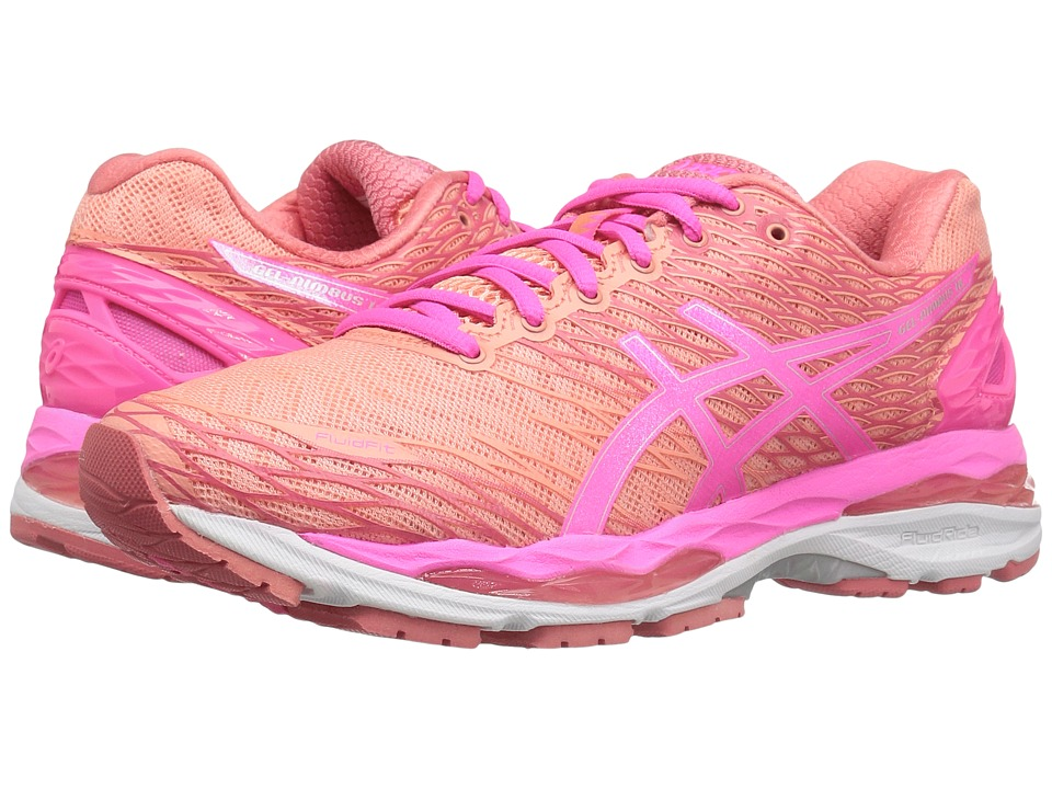 ASICS - Gel-Nimbus(r) 18 (Peach/Hot Pink/Guava) Women's Running Shoes
