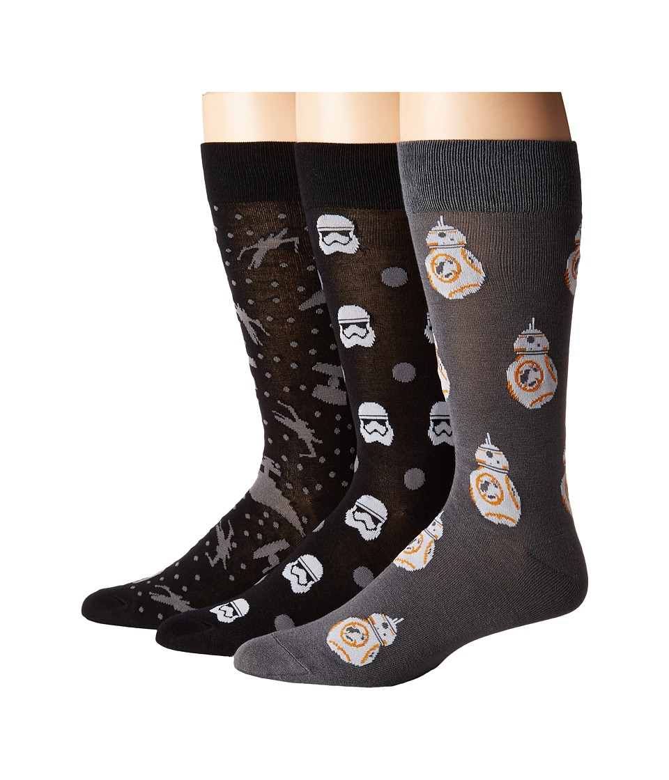Cufflinks Inc. - The Force Awakens 3-Pair Socks Gift Set (Multi) Men's Crew Cut Socks Shoes