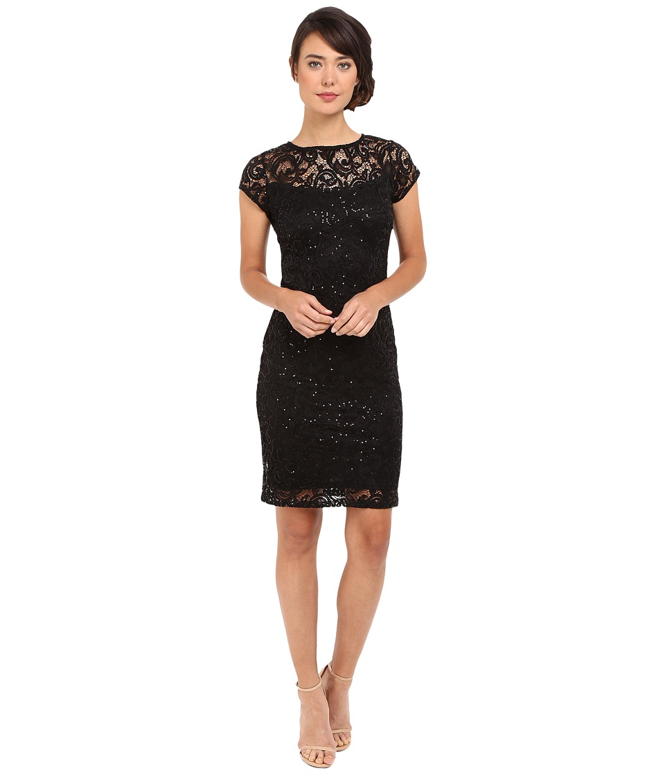 rsvp - Mariko Short Lace Dress (Black) Women's Dress