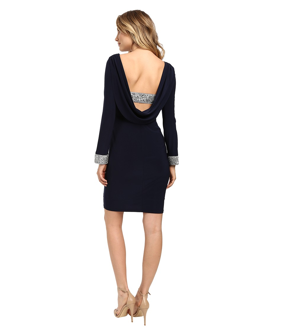 rsvp - Mina Short Dress (Navy) Women's Dress