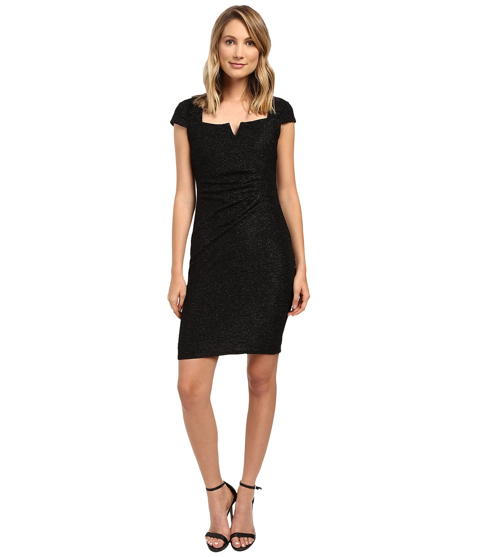 rsvp Aisha Cap Sleeve Dress (Black) Women