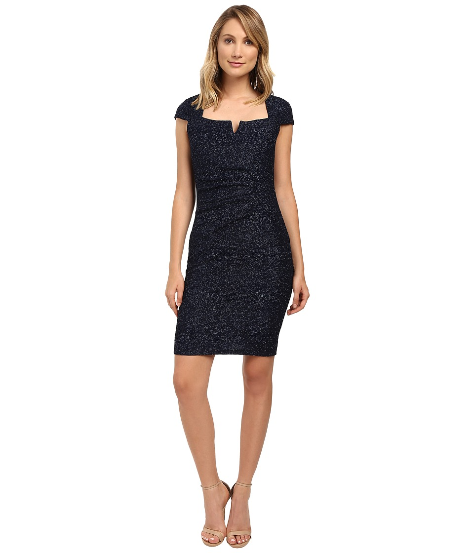 rsvp Aisha Cap Sleeve Dress (Navy) Women