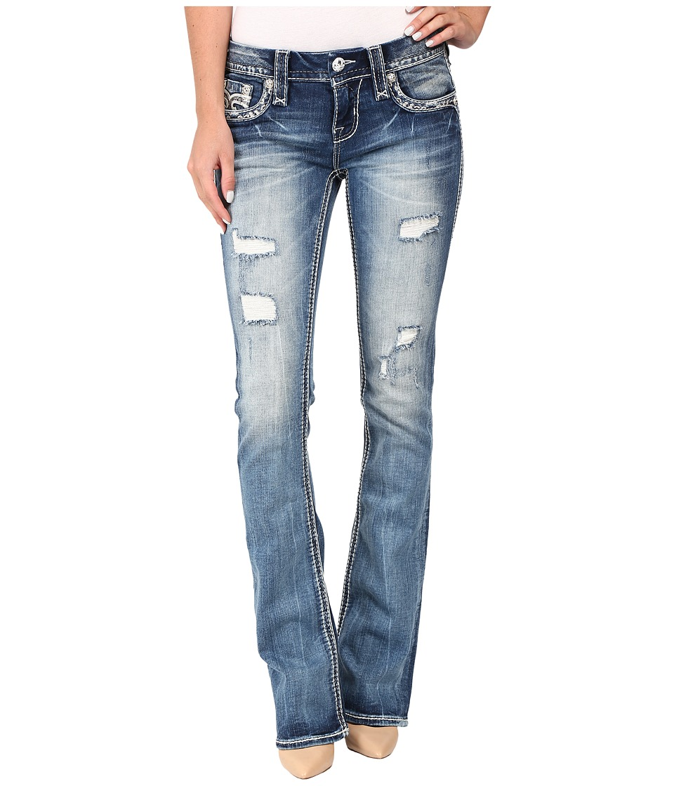 Rock Revival - Staceya B201 (Medium Blue) Women's Jeans