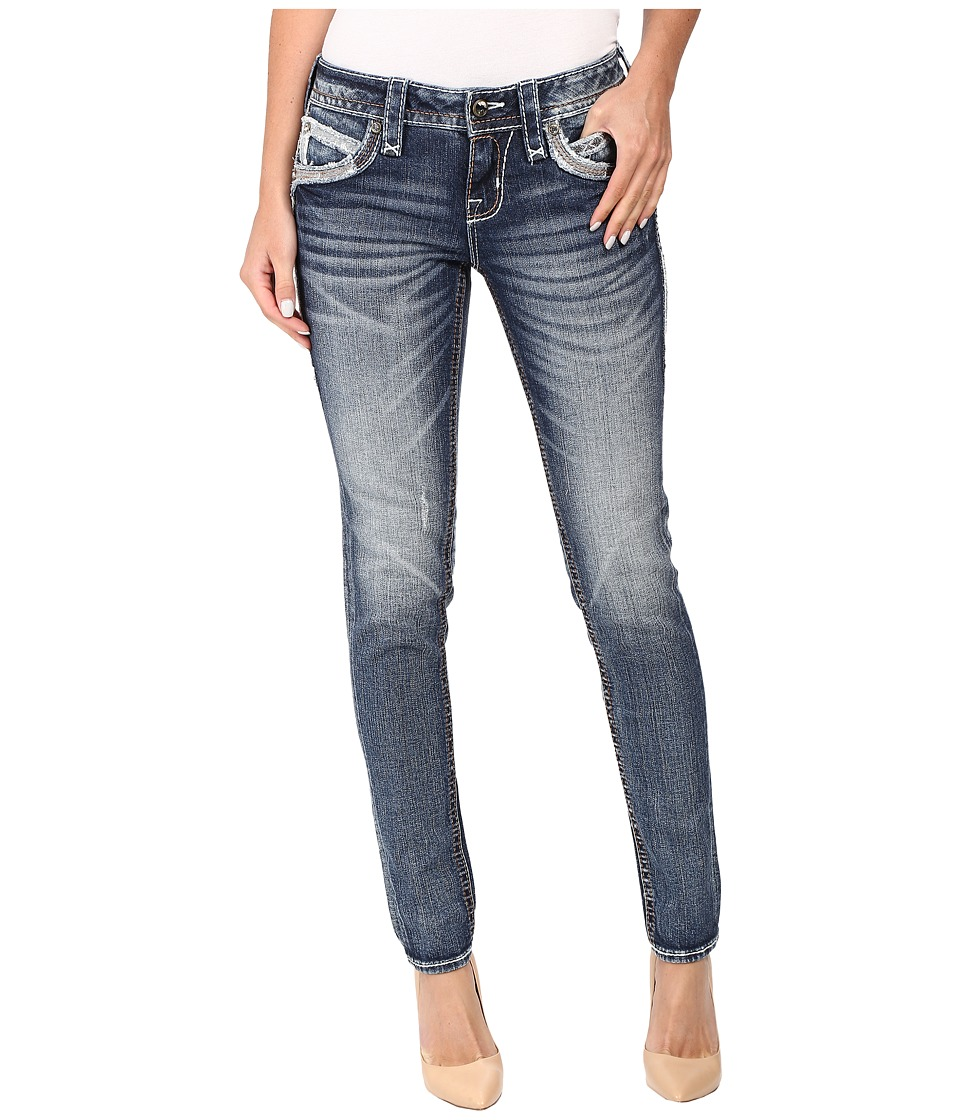 Rock Revival - Johanna S203 (Medium Blue) Women's Jeans