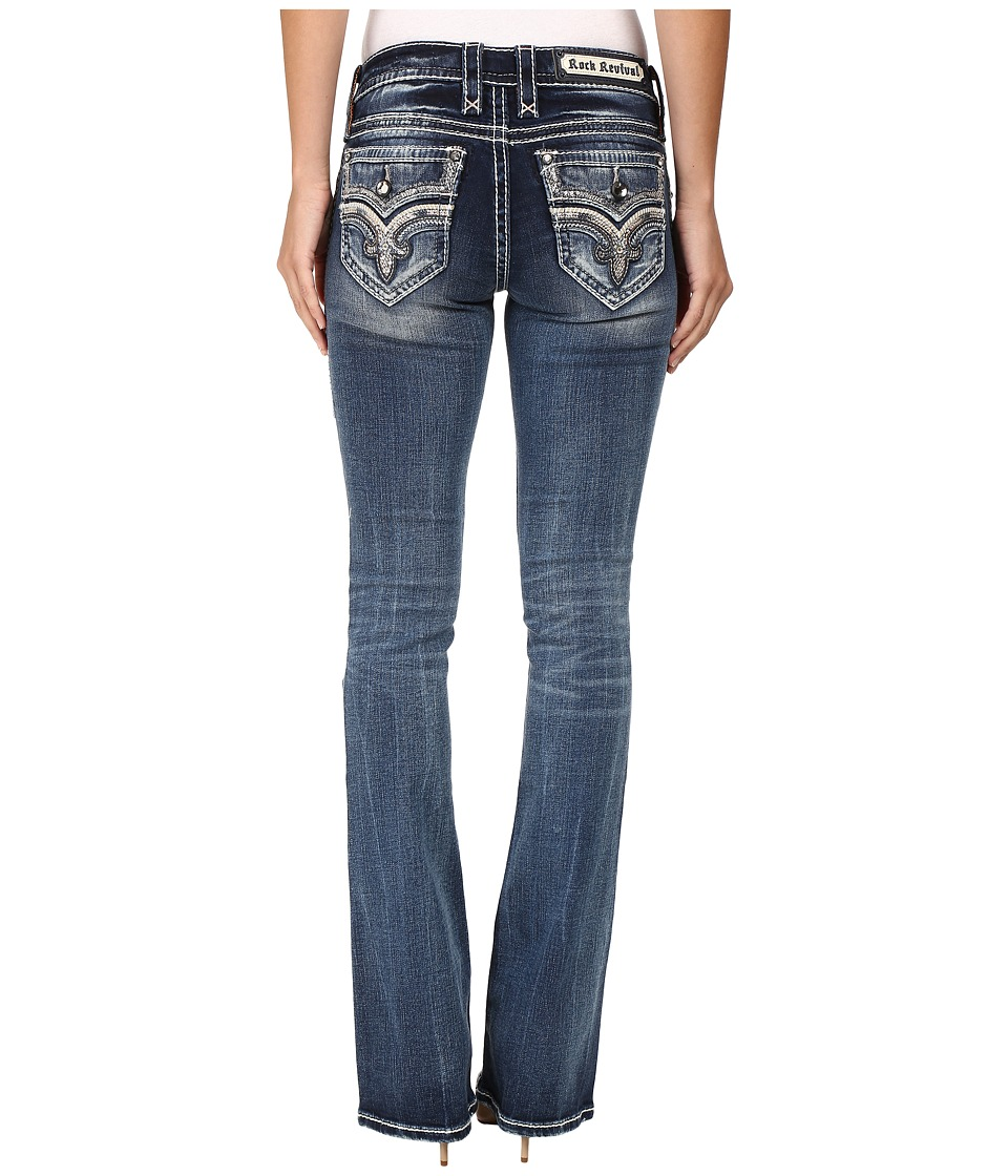 Rock Revival - Lanlan B206 (Medium Blue) Women's Jeans