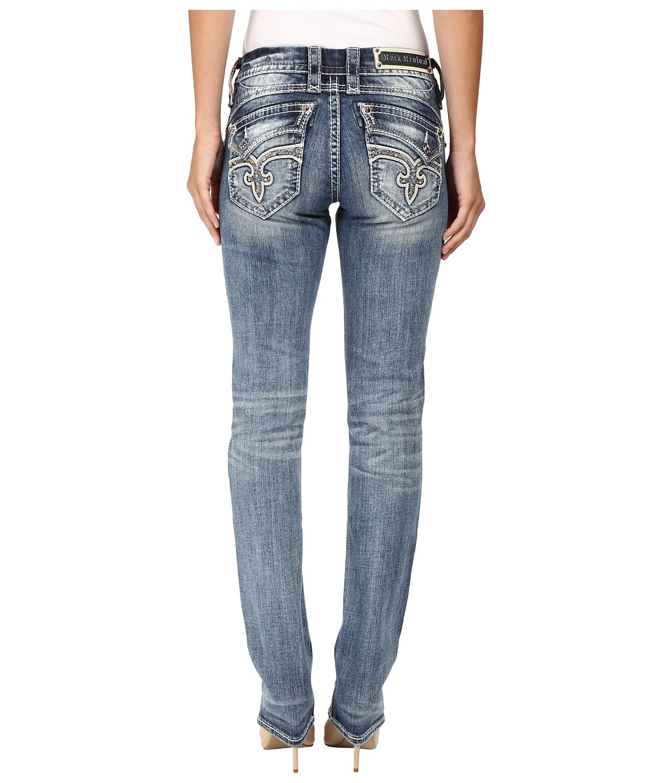 Rock Revival - Kailyn J204 (Medium Blue) Women's Jeans